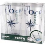 Juomalasipakkaus Festa Blue Ocean, 2 kpl
